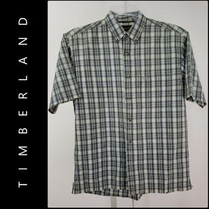 Timberland Men Button Front Plaid & Check Shirt